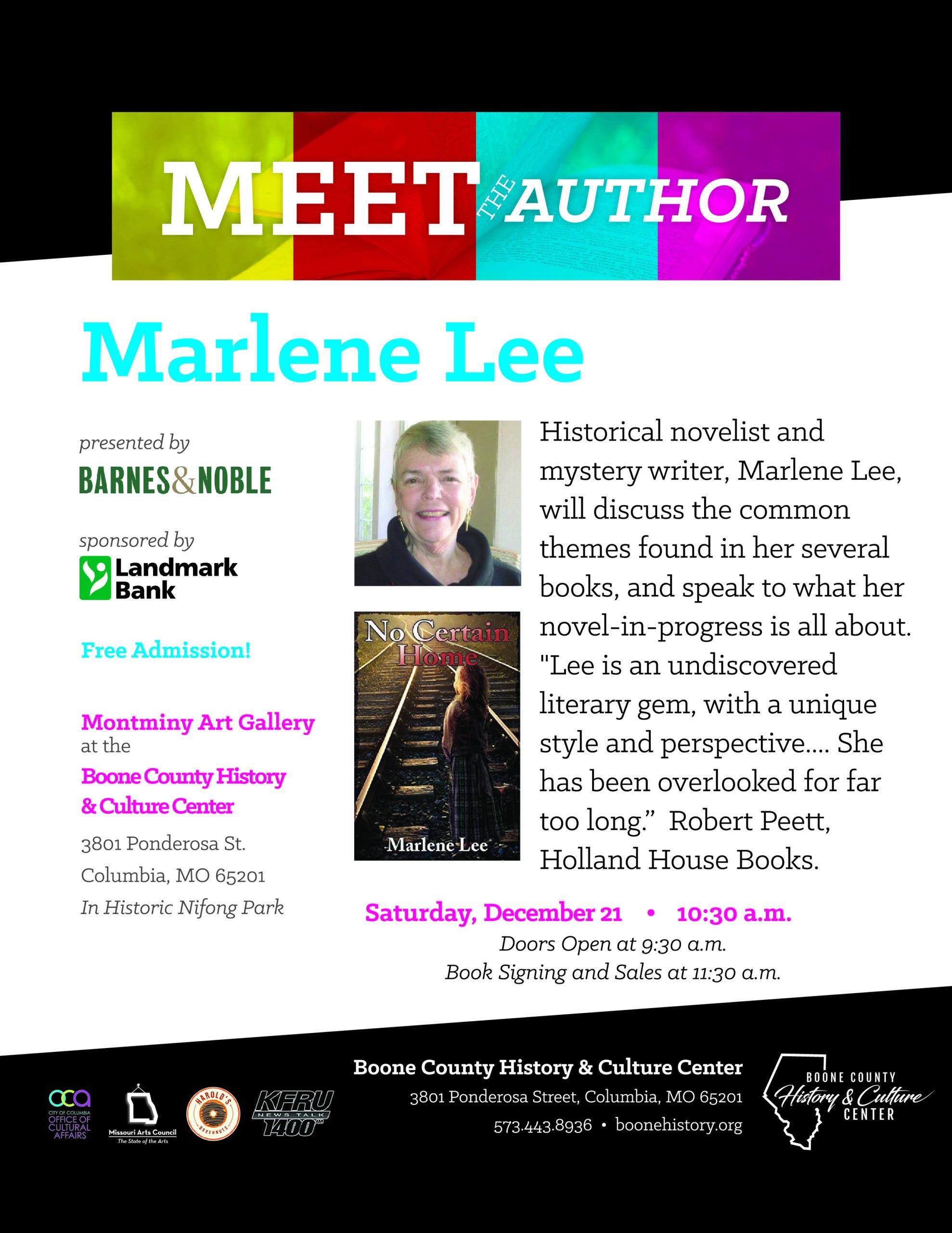 Marlene Lee – No Certain Home