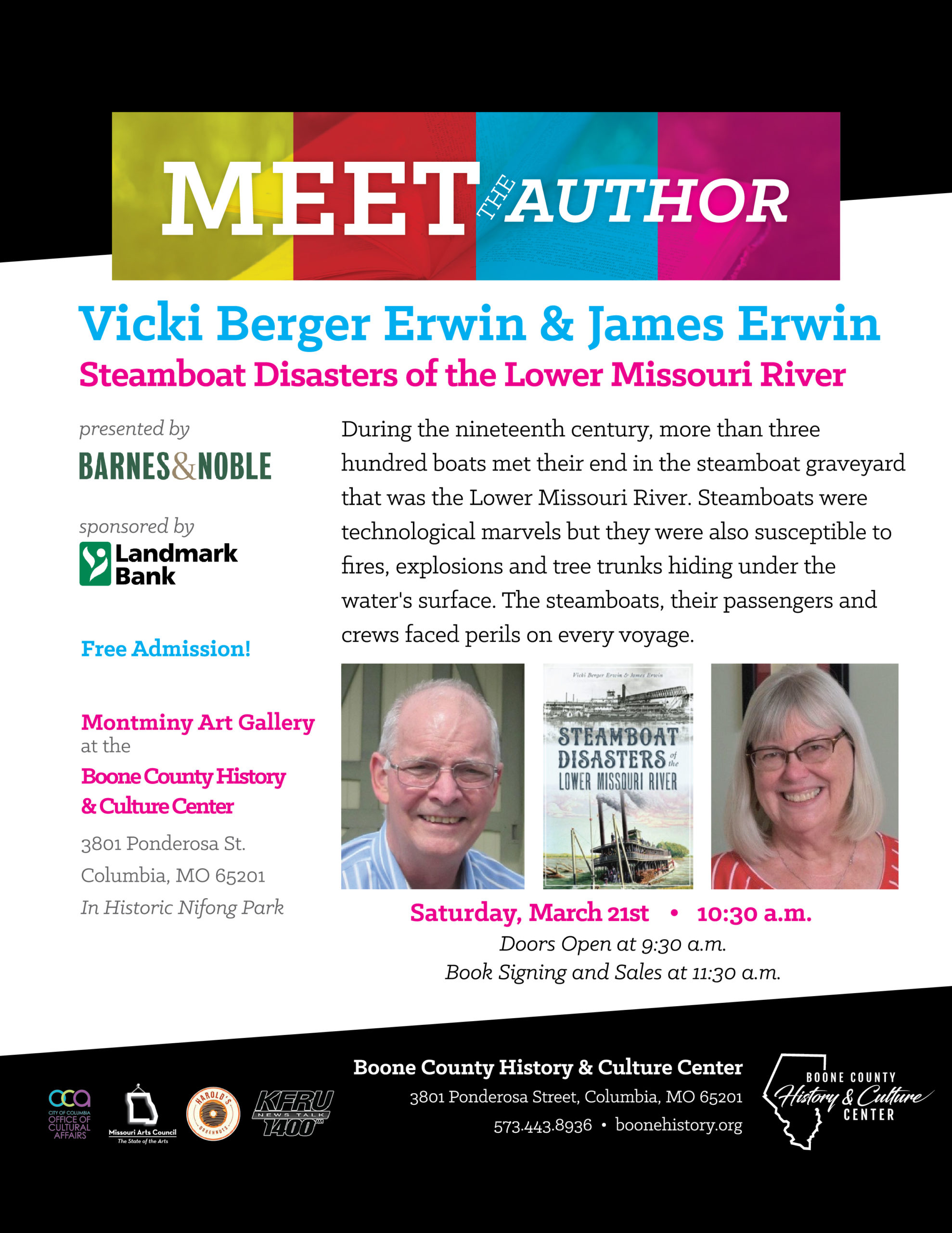 Vicki Berger Erwin & James Erwin – Steamboat Disasters of the Lower Missouri River