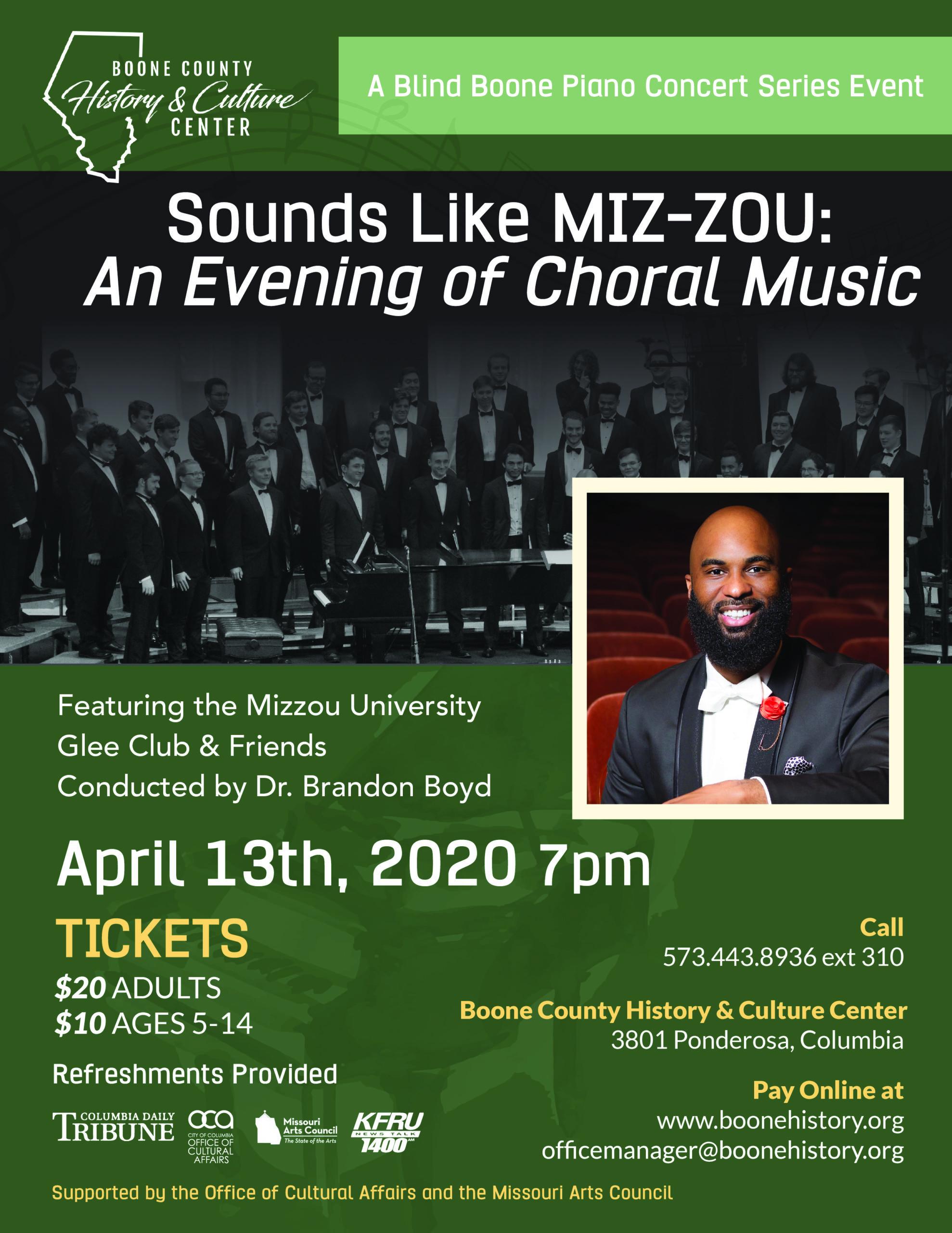 POSTPONED: Sounds Like MIZ-ZOU: An Evening of Choral Music